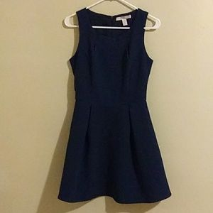 Forever 21 Missy Royal Blue Pleated Flared Dress